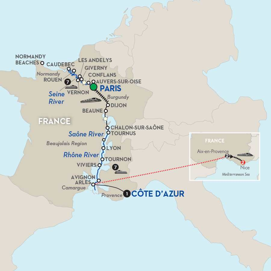 Grand France with Aix–en–Provence & Nice – Southbound
