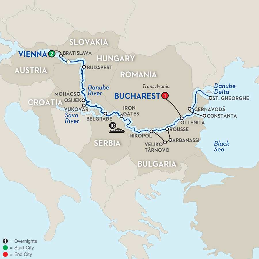 Blue Danube to the Black Sea - Eastbound