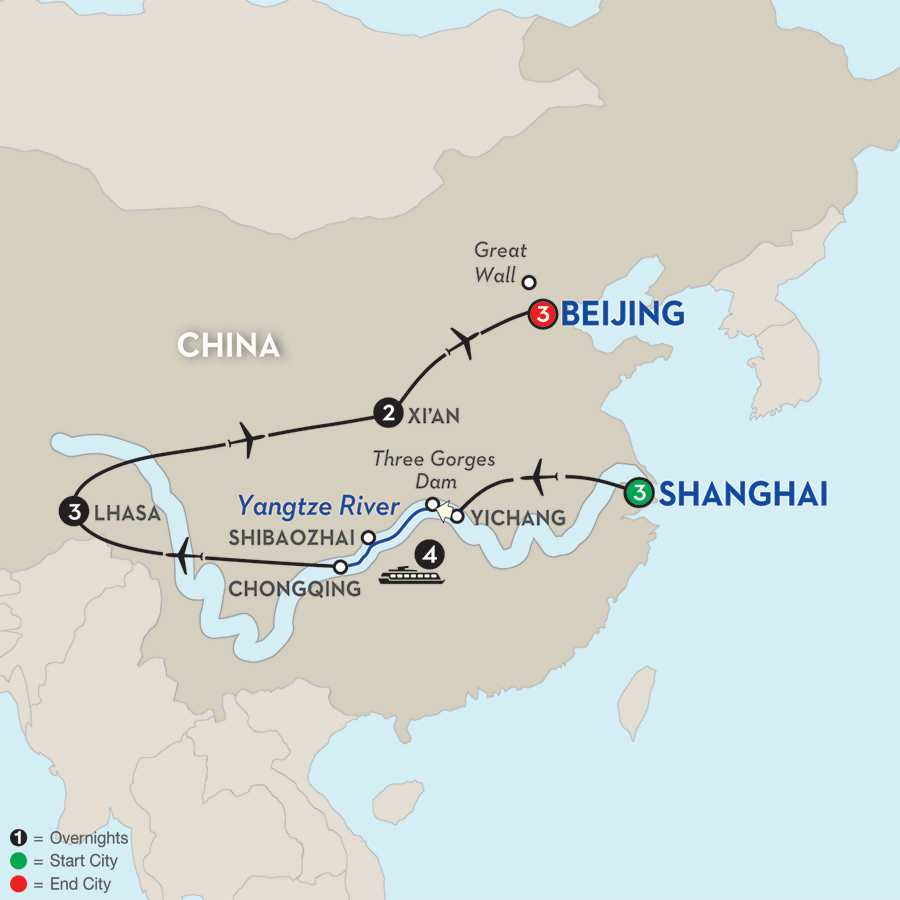 Cultural China & Tibet with Yangtze River Cruise