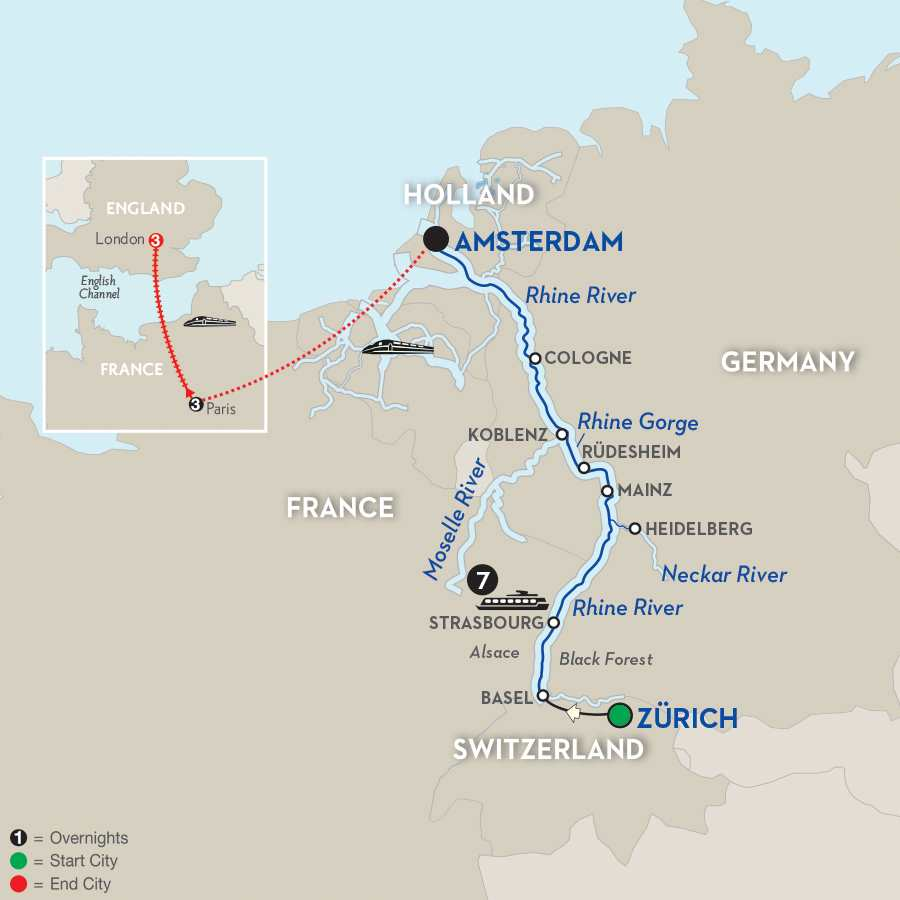 Romantic Rhine with Paris & London – Northbound