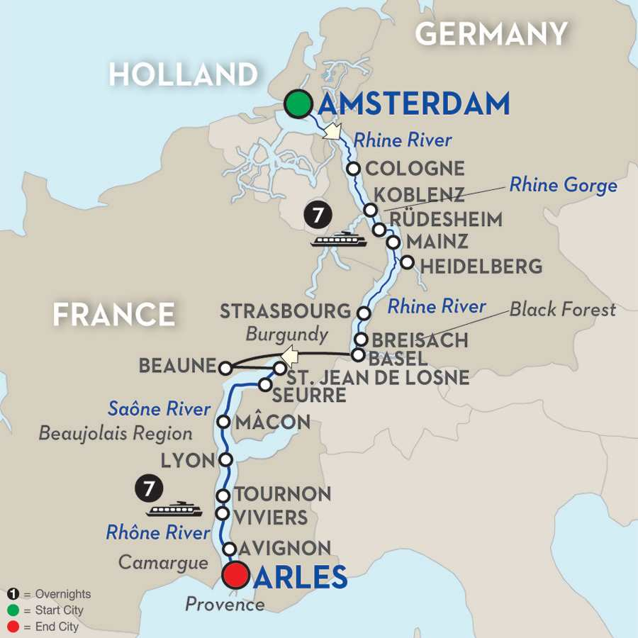 Rhine & Rhône Revealed – Cruise Only Southbound