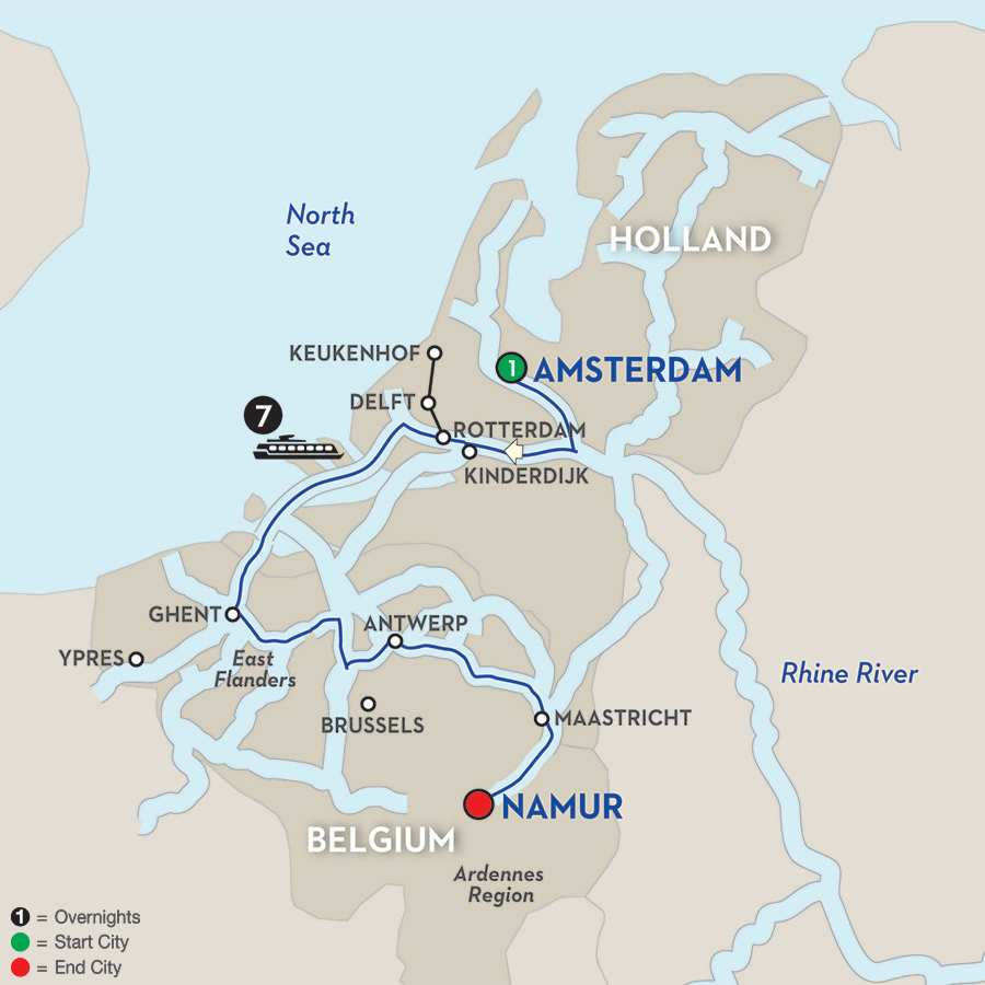 Belgium River Cruise Avalon Waterways – Belgium Rivers Map