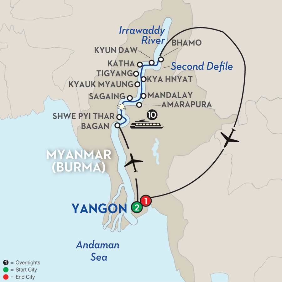 Golden Myanmar & the Alluring Irrawaddy – Northbound