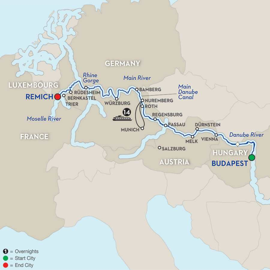 Jewels of Central Europe – Cruise Only Westbound