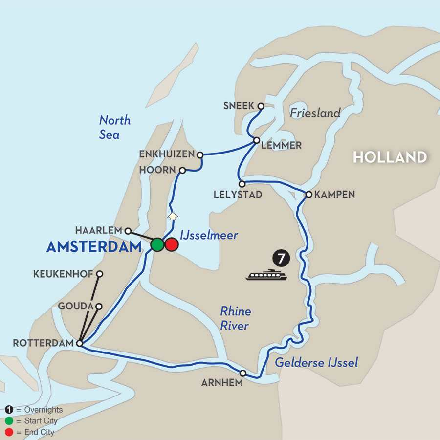 Holland River Cruises Avalon Waterways – Belgium Rivers Map
