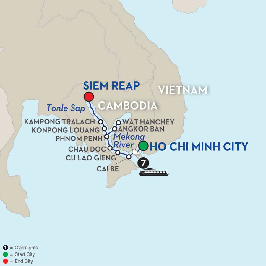 Fascinating Vietnam, Cambodia & the Mekong River Cruise Only – Northbound