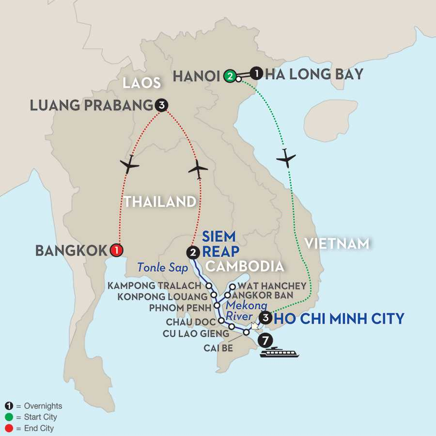 Fascinating Vietnam, Cambodia & the Mekong River with Hanoi, Ha Long Bay & Luang Prabang – Northbound