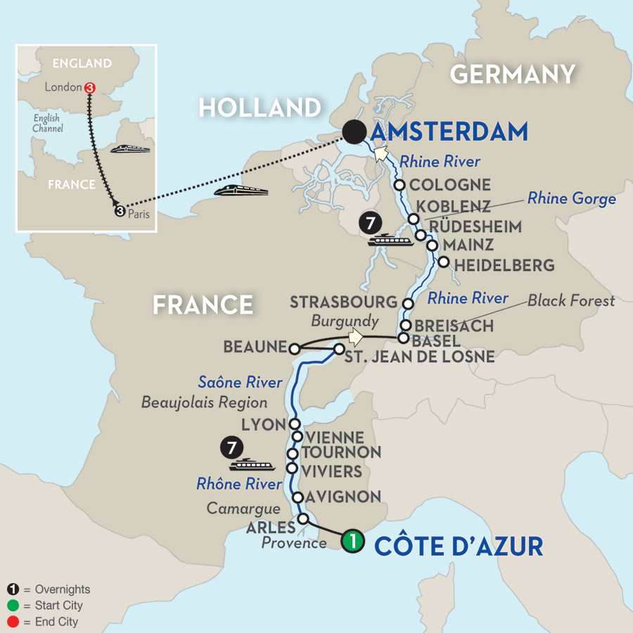 Rhine & Rhône Revealed with Paris & London – Northbound