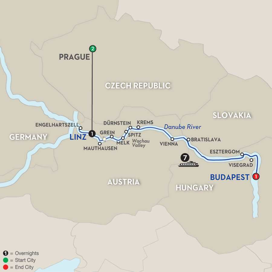Active Discovery on the Danube with Prague – Eastbound