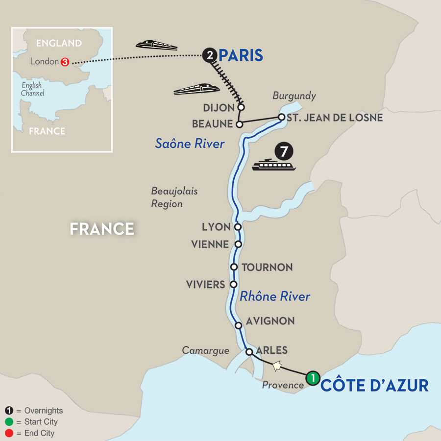 Burgundy & Provence with London – Northbound