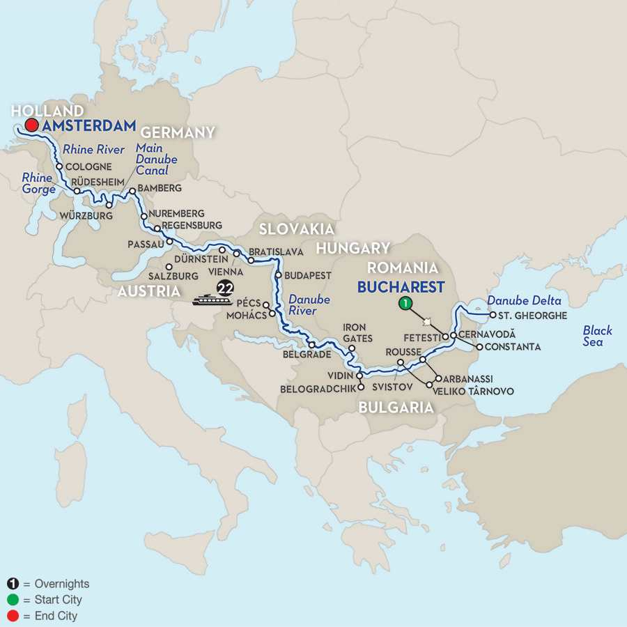 From the Black Sea to the North Sea– Westbound