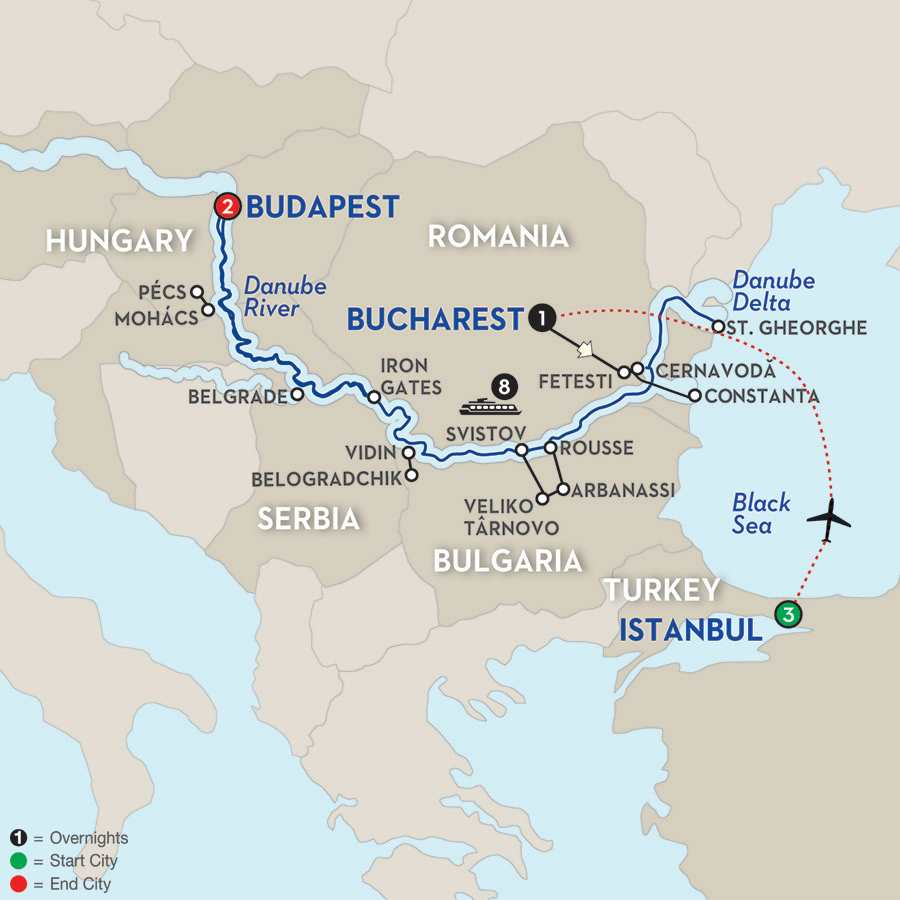The Danube from the Black Sea to Budapest with Extended Stay in Istanbul – Westbound