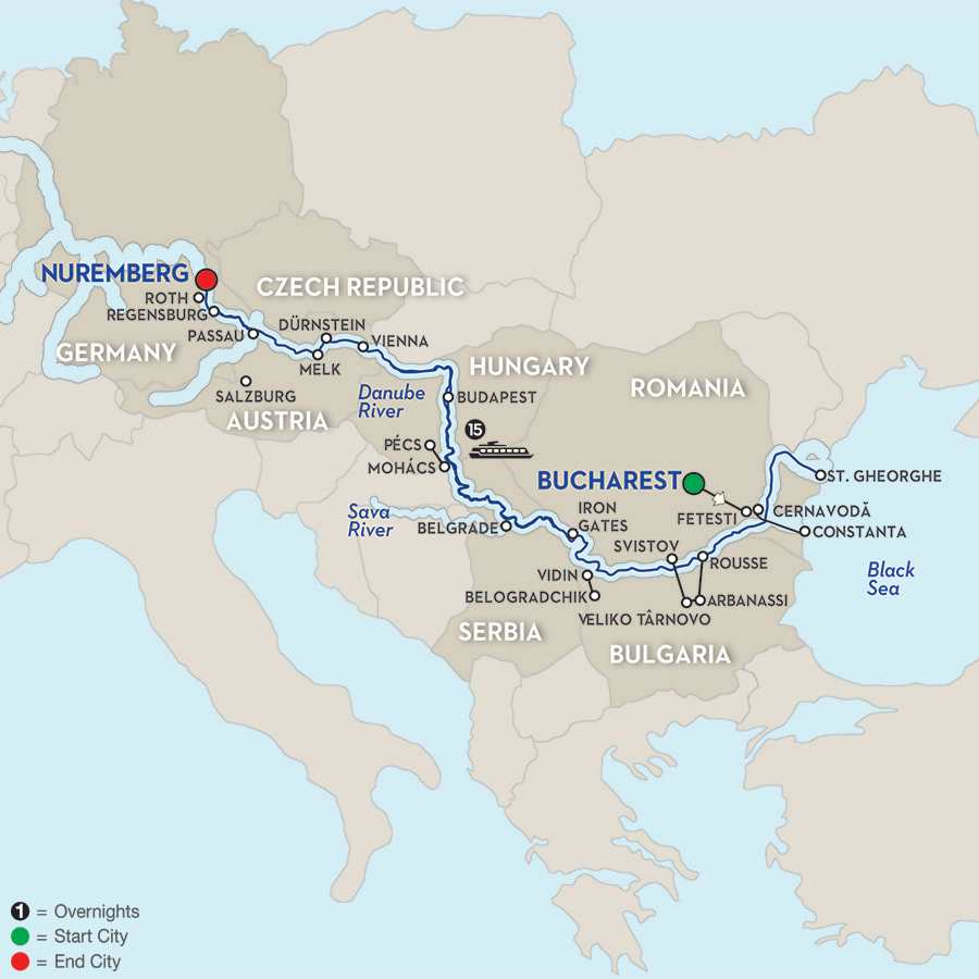From the Danube Delta to Prague – Cruise Only Westbound