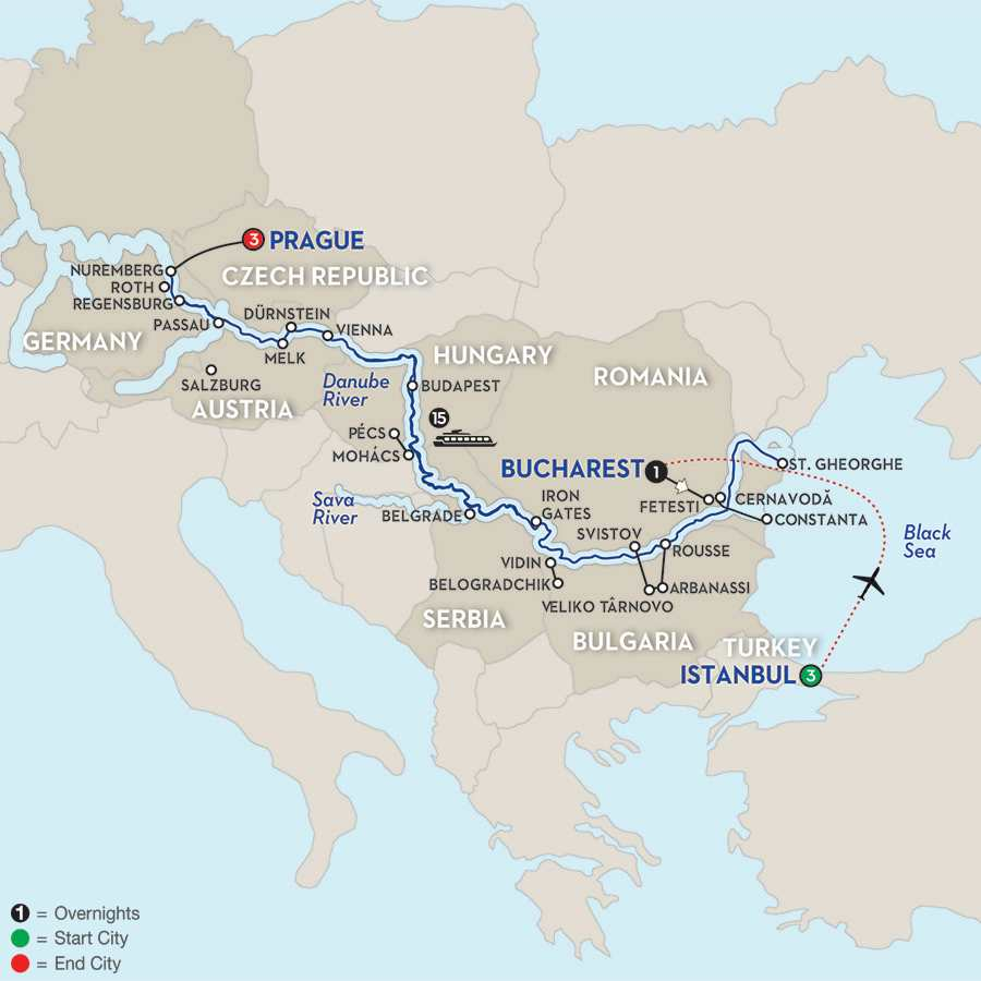 From the Danube Delta to Prague with Extended Stay in Istanbul – Westbound
