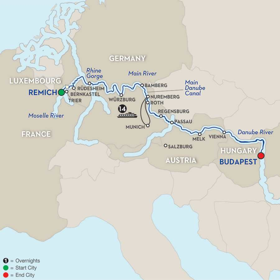 Jewels of Central Europe - Cruise Only Eastbound