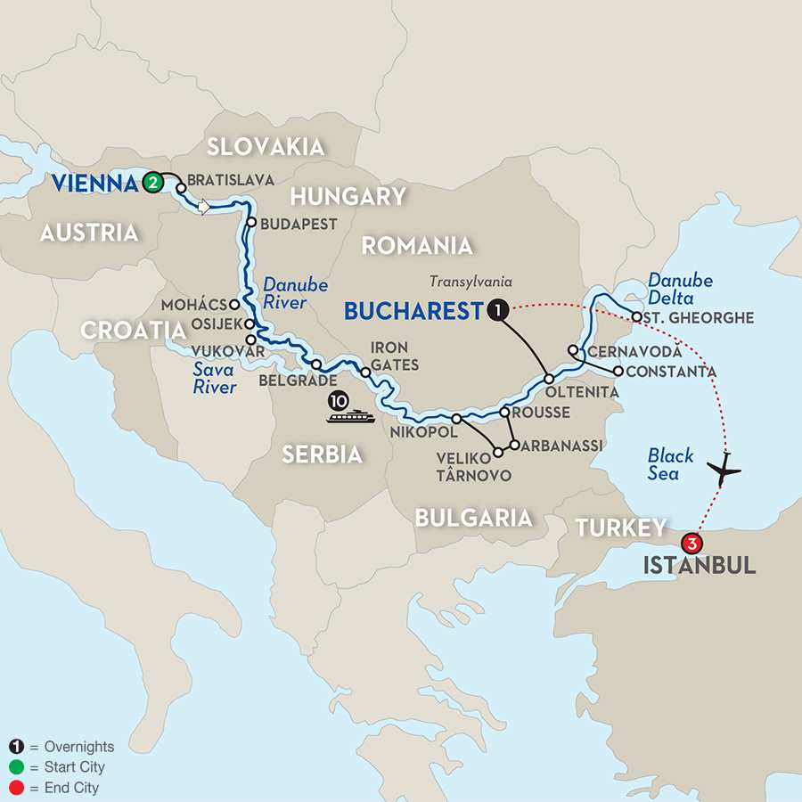 Blue Danube to the Black Sea with Istanbul – Eastbound