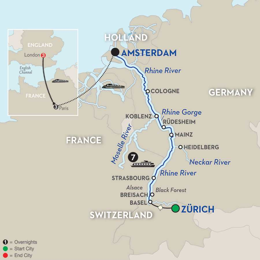 Romantic Rhine with Paris & London Extension – Northbound