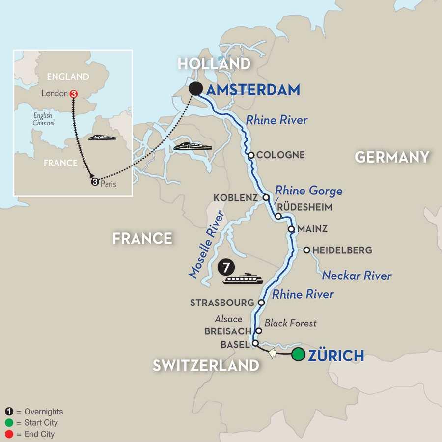 Romantic Rhine with Paris & London Extension – Northbound