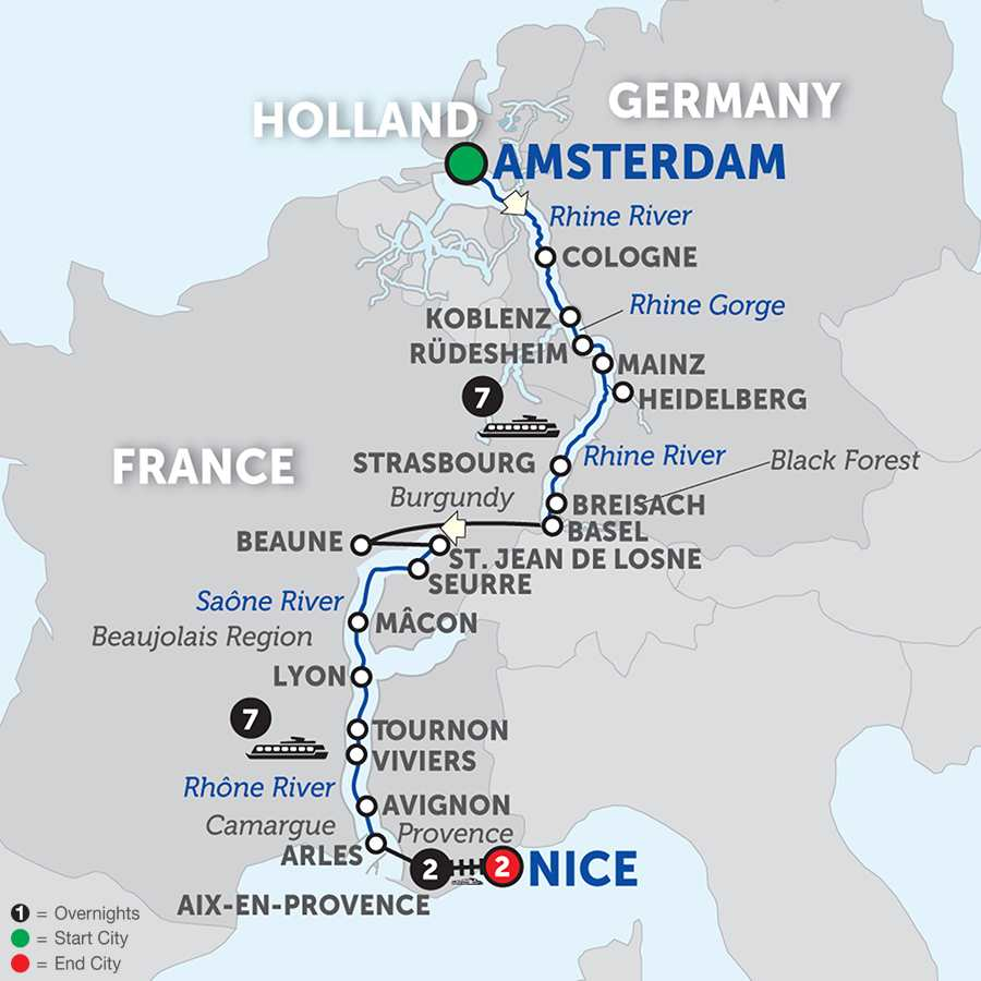 Rhine & Rhône Revealed with Aix-en-Provence & Nice – Southbound