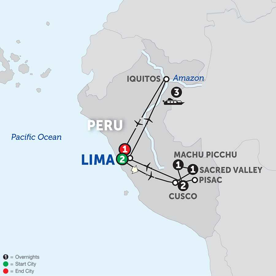 Amazon River Cruise Avalon Waterways - Amazon river map of south america