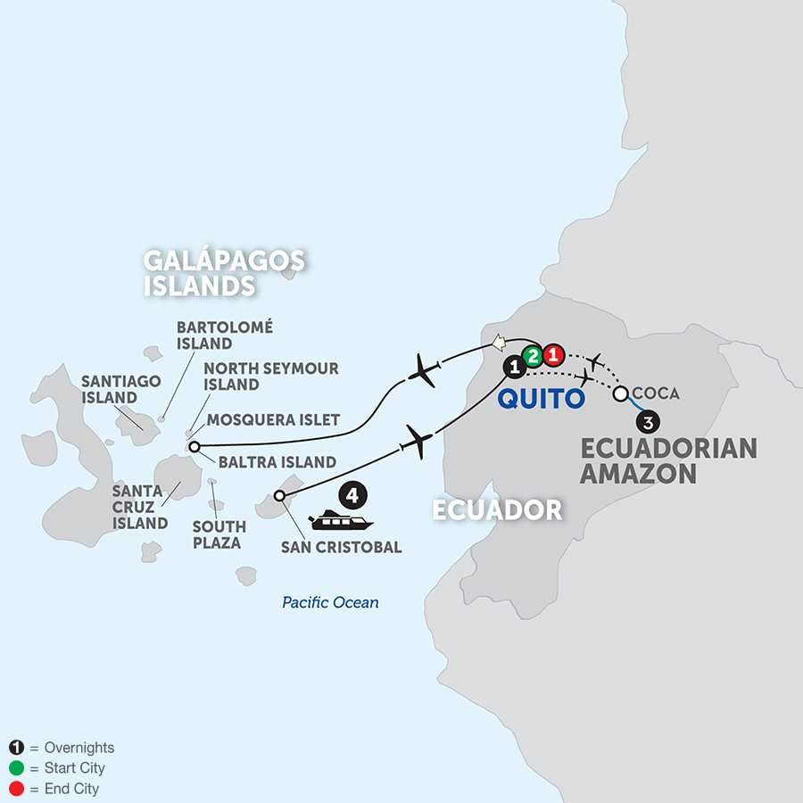 Ecuador & Its Galápagos Islands with the Amazon
