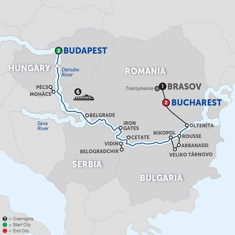 Balkan Discovery with Transylvania - Eastbound