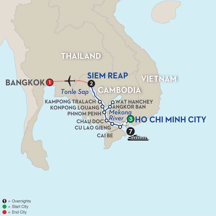 Fascinating Vietnam, Cambodia & the Mekong River with Bangkok – Northbound