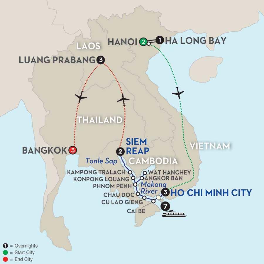 Fascinating Vietnam, Cambodia & the Mekong River with Hanoi, Ha Long Bay, Luang Prabang & Bangkok – Northbound