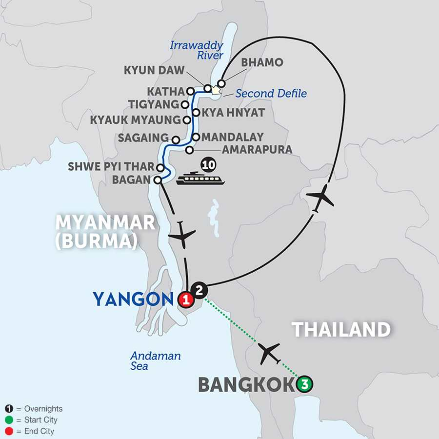 Golden Myanmar & the Alluring Irrawaddy with Bangkok – Southbound