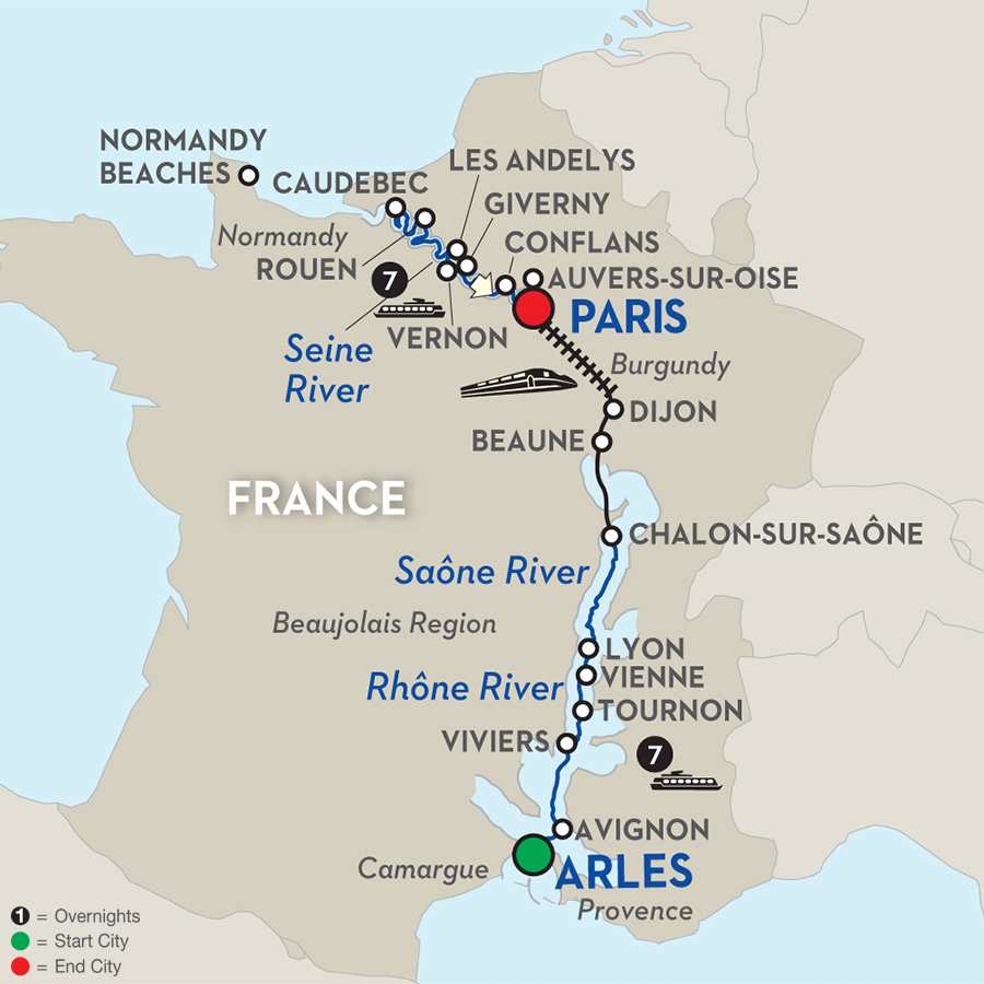 Grand France with Journeys Club Celebration - Cruise Only