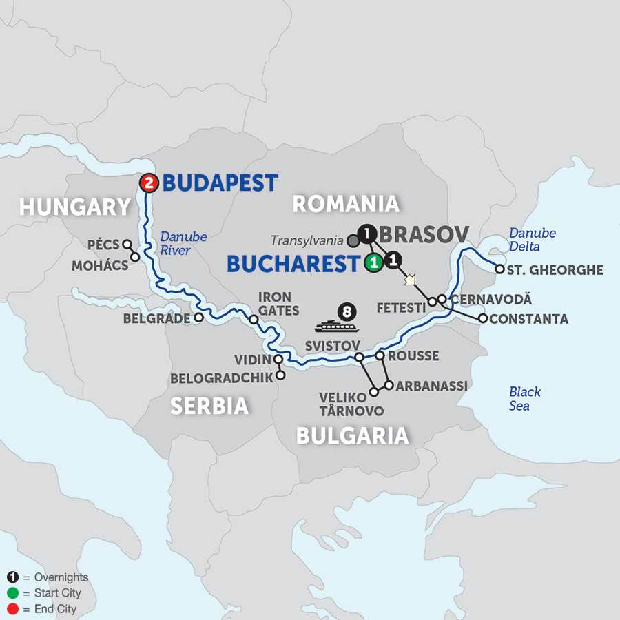 The Danube from the Black Sea to Budapest with Transylvania