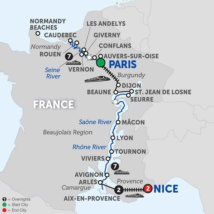 Grand France with Aix-en-Provence & Nice - Southbound