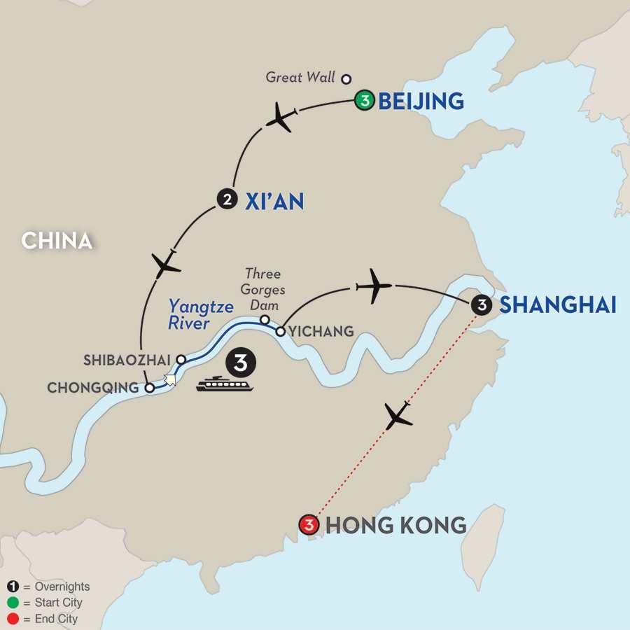 Magical China & the Yangtze River with Hong Kong