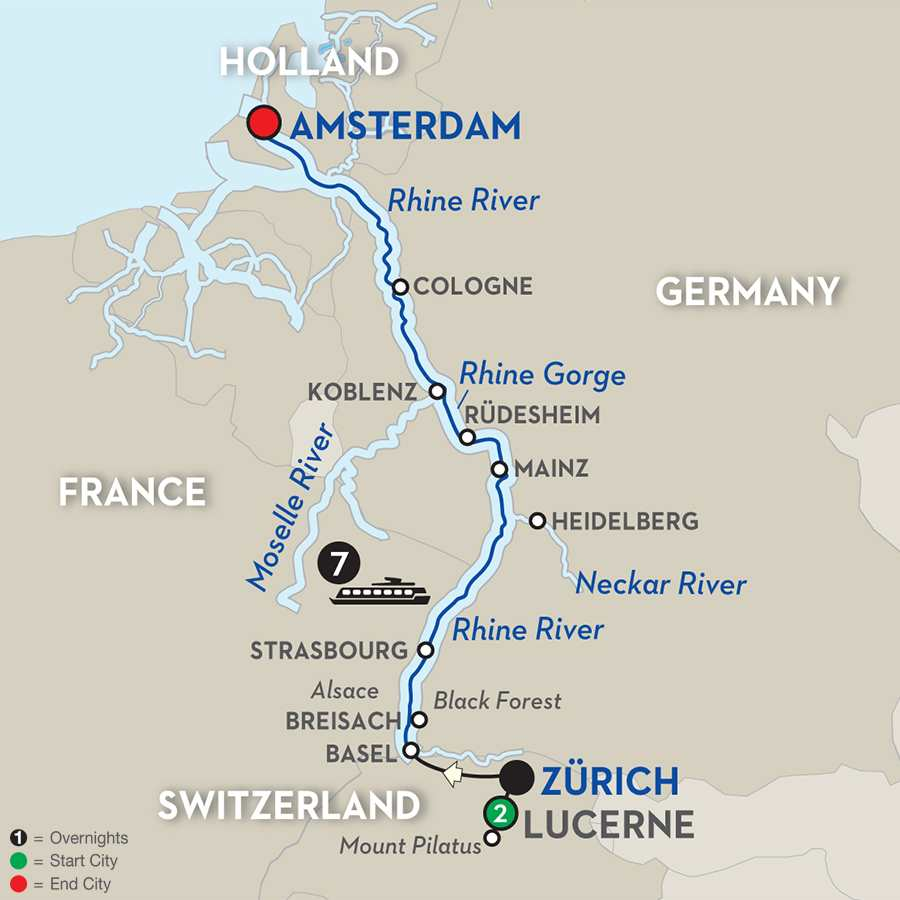 Festive Time on the Romantic Rhine with Lucerne - Northbound