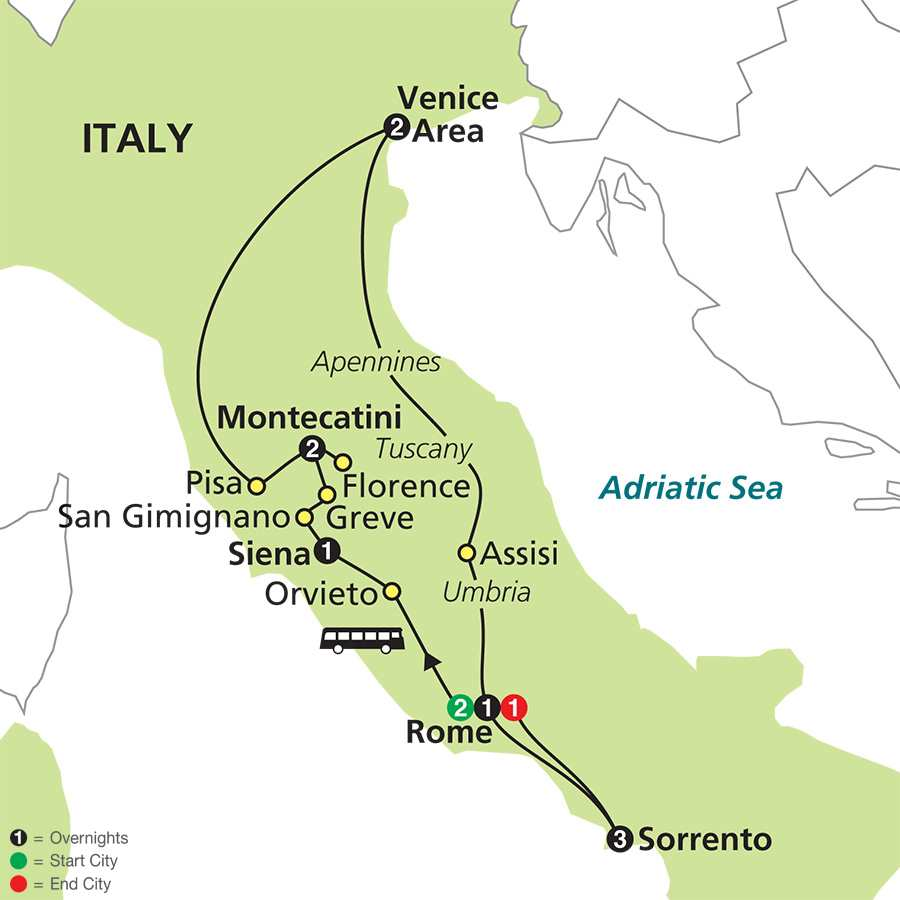 The Splendors of Italy with Sorrento