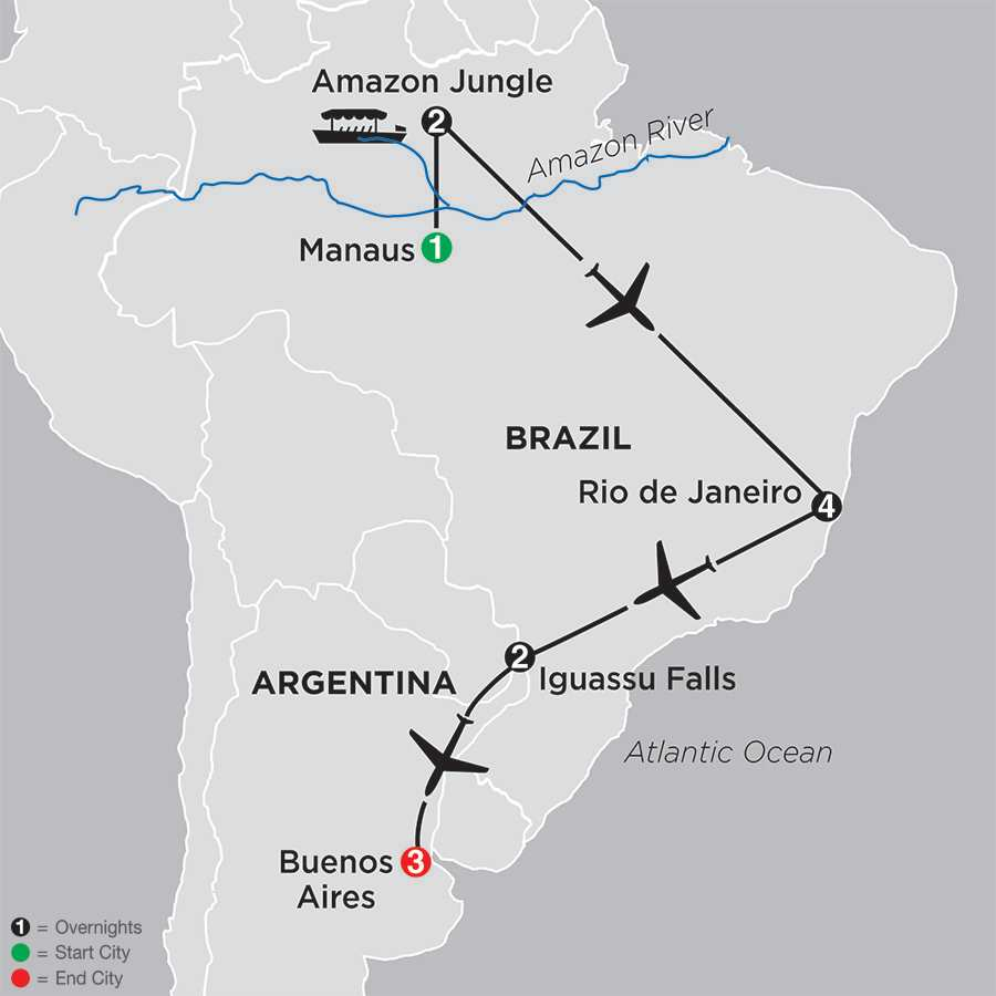 The Best of Brazil & Argentina with Brazil's Amazon