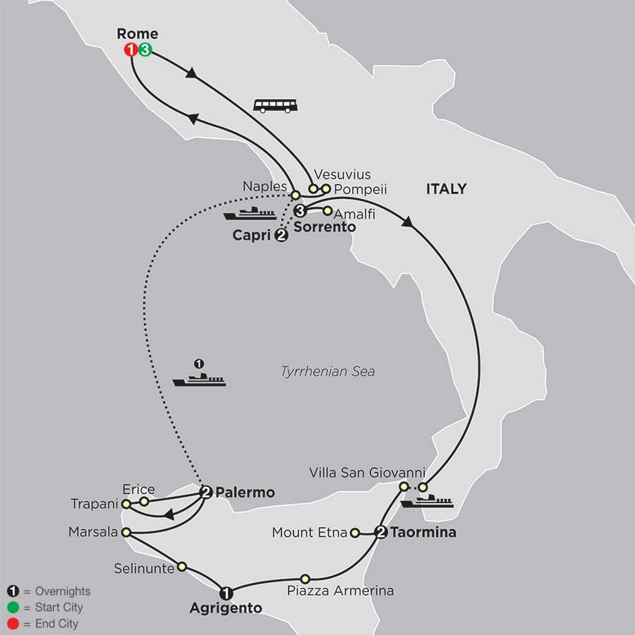 Rome, Sorrento & Capri with Sicily