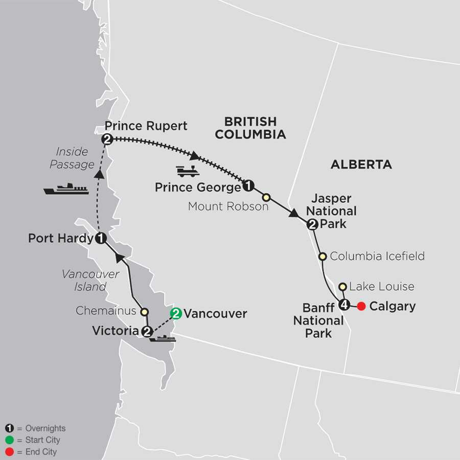Western Canada with Inside Passage with Extended Stay in Banff