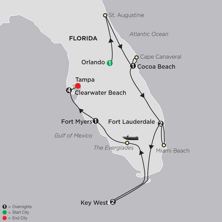 Florida Discovery with Extended Stay in Clearwater Beach