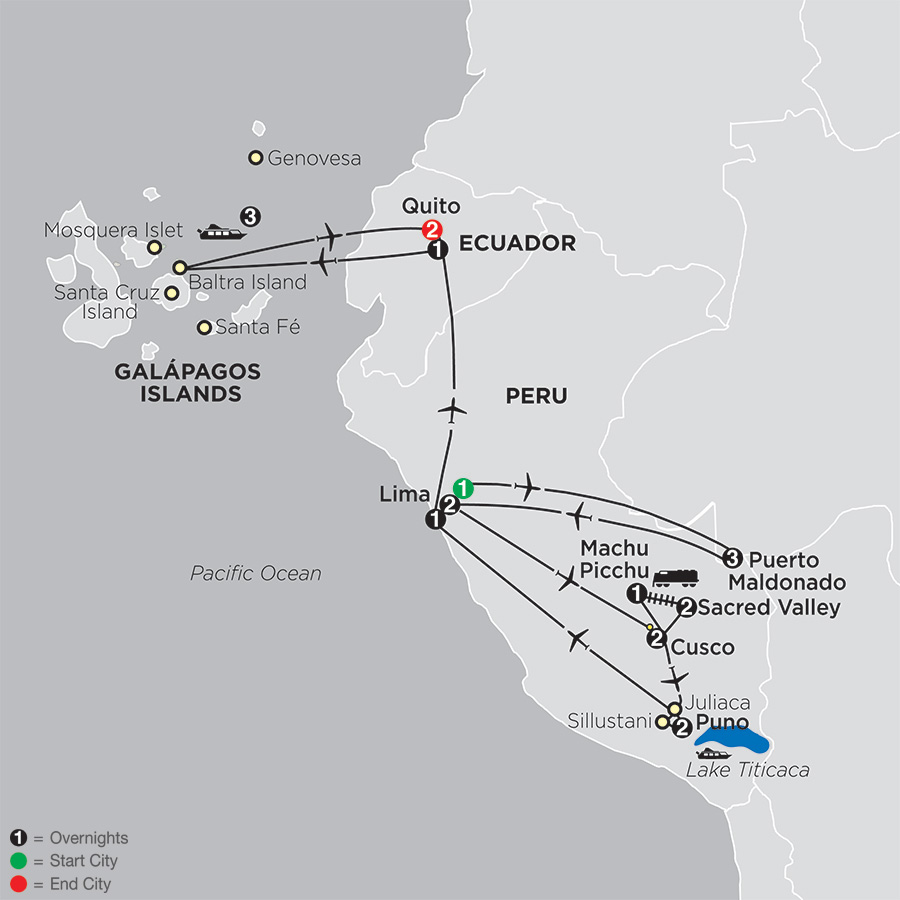 Mysteries of the Inca Empire with Peru's Amazon & Galápagos Cruise