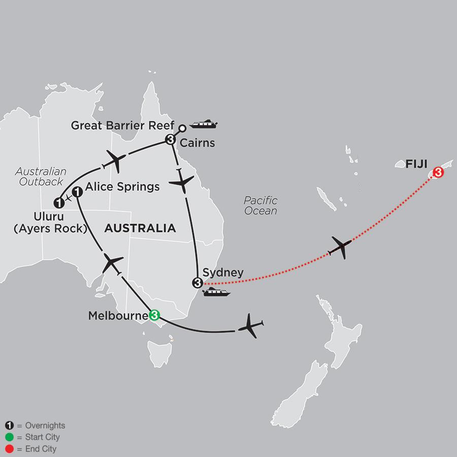 Highlights of Australia with Fiji