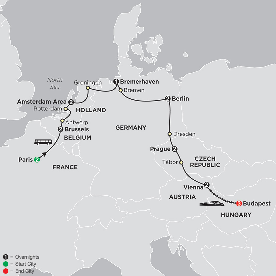 European Capitals with Budapest