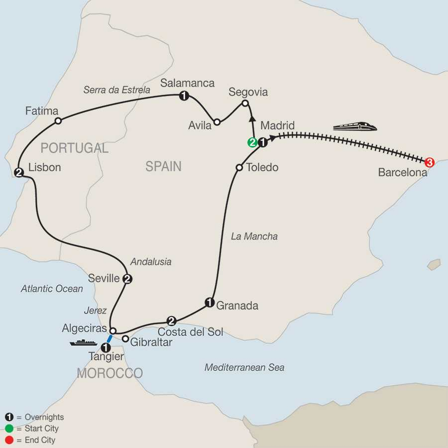 Escorted Tours Southern Spain