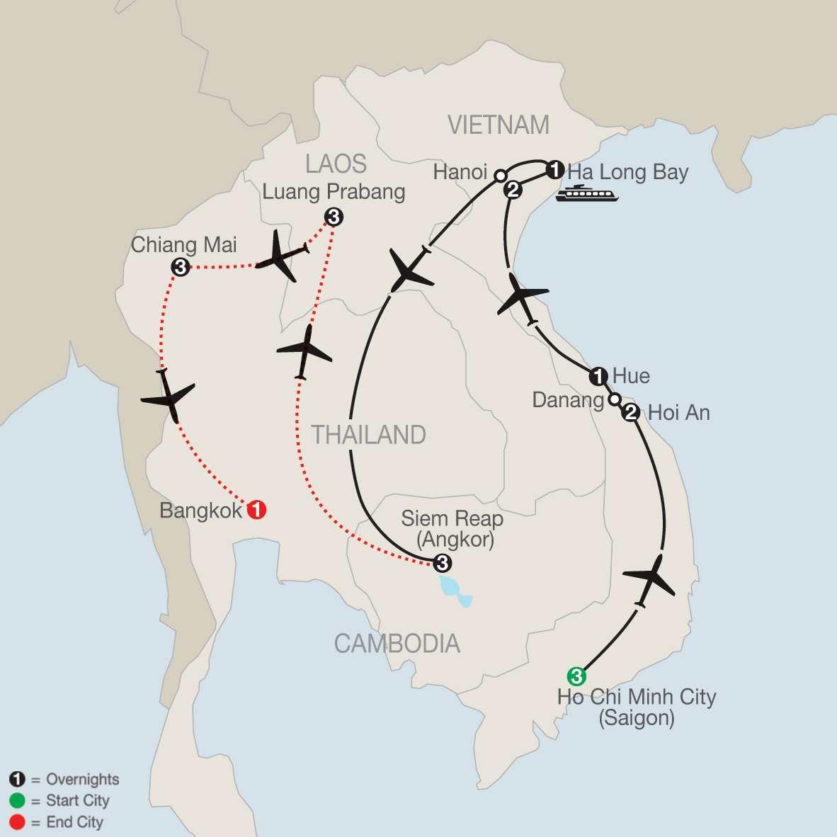 Exploring Vietnam & Cambodia with Luang Prabang & Chiang Mai