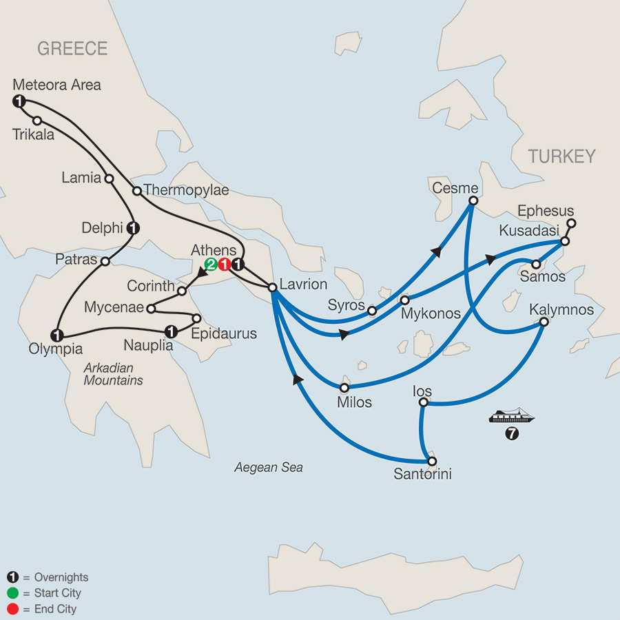 Classical Greece with Idyllica  Aegean 7-Night Cruise