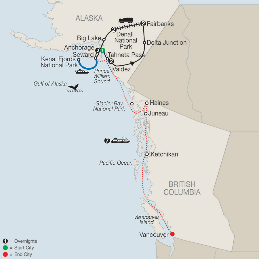Spectacular Alaska! with Alaska Cruise