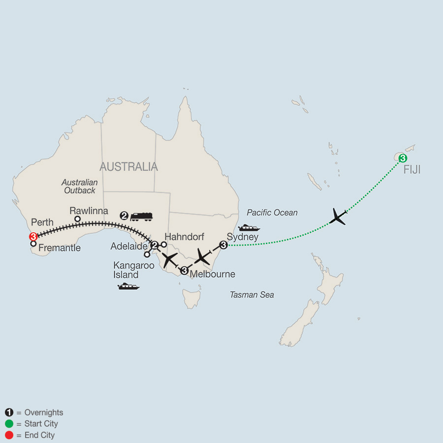 Train Across Australia with Fiji