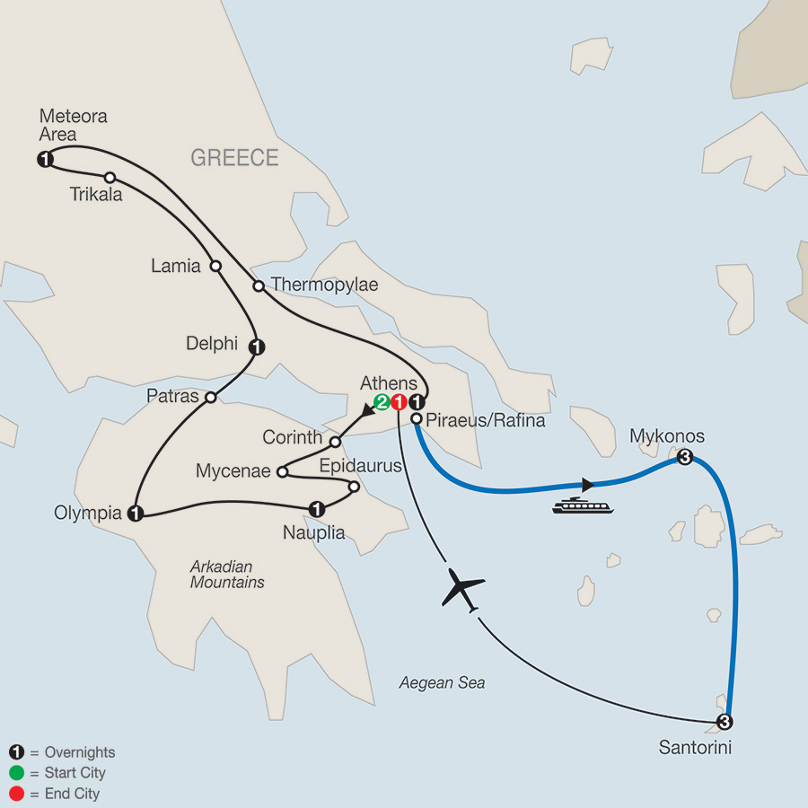 Classical Greece plus Island Hopper