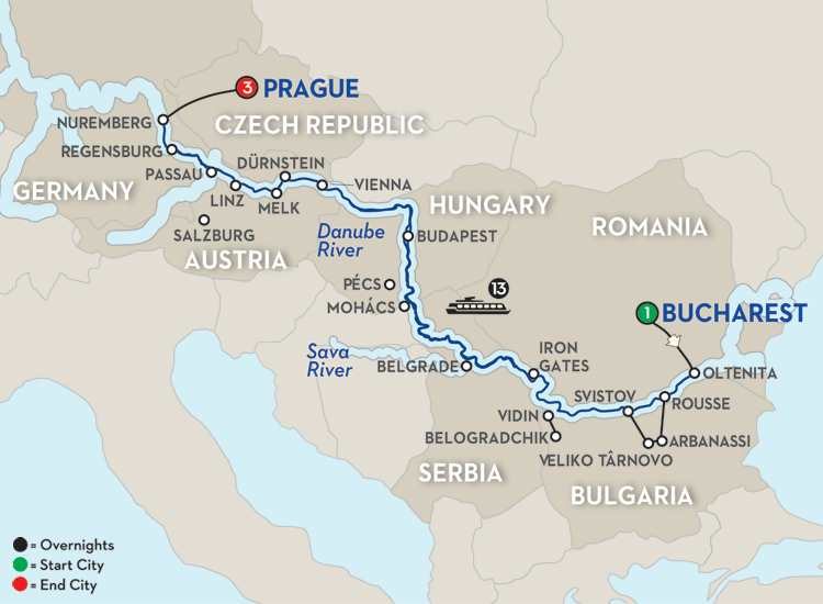 GRAND DANUBE CRUISE – WESTBOUND