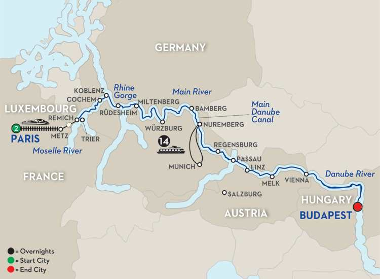 JEWELS OF CENTRAL EUROPE – EASTBOUND